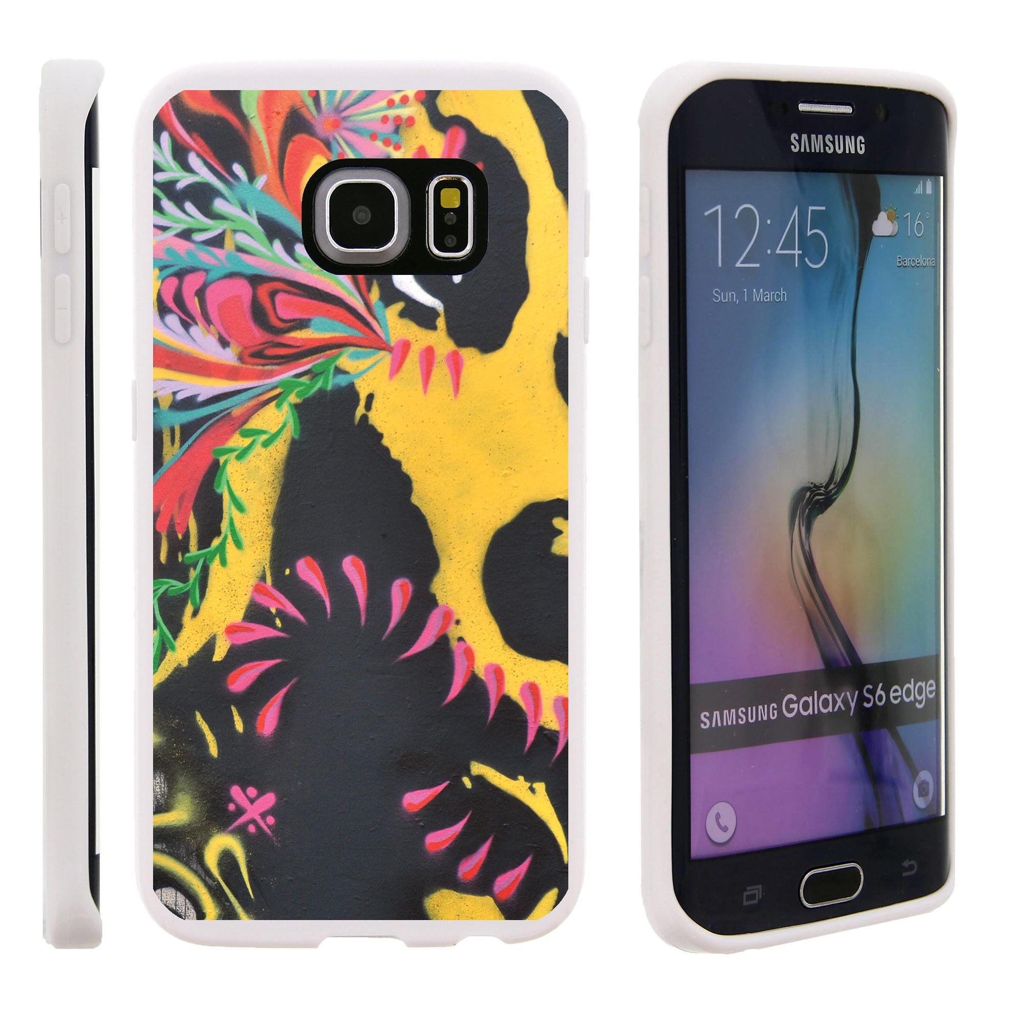 Samsung Galaxy S6 Edge G925, Flexible Case [FLEX FORCE] Slim Durable TPU Sleek Bumper with Unique Designs - Paint Splatter