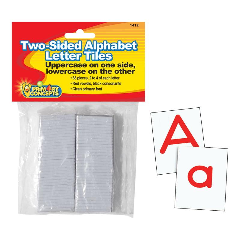 TWO-SIDED ALPHABET LETTER TILES
