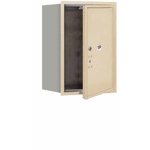 "Salsbury Industries 4C Horizontal Mailbox 6-Door High Unit (23.5""), Single Column, Stand-Alone Parcel Locker-1 PL6, Aluminum, Front Load, USPS Access"