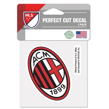 "AC Milan WinCraft 4"" x 4"" Perfect-Cut Decal - No Size"