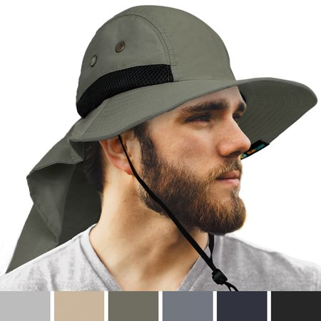 7d5e73a559cfc SUN CUBE Mens Sun Hat with Neck Flap Cover