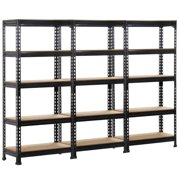 "Yaheetech 27.6 x 11.8 x 59.1'' (WxDxH) 3 pack Heavy Duty 5 Tier Commercial Industrial Racking Garage Shelving Unit Adjustable Display Stand,59.1"" Height"