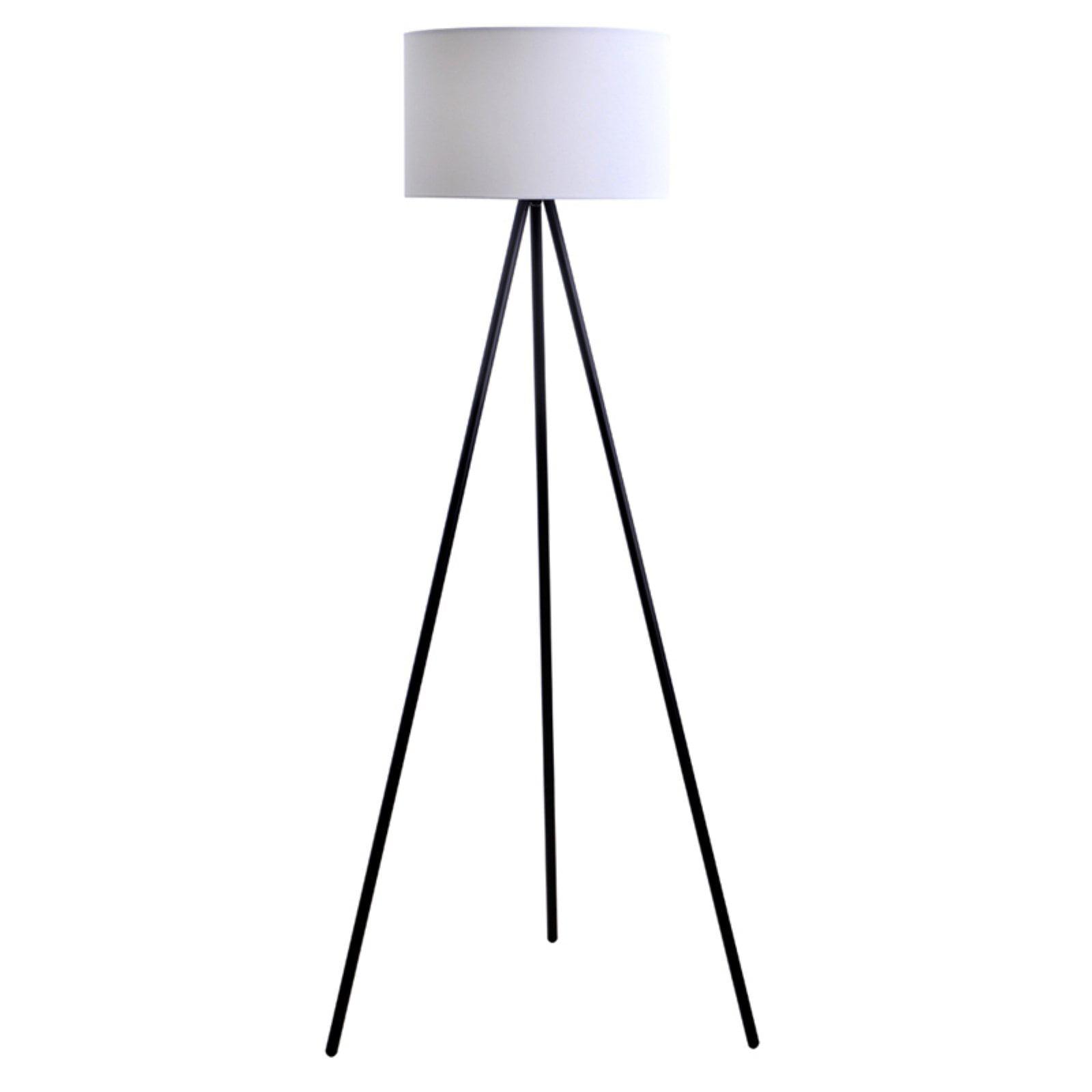 "Catalina 61.25"" Mid-Century Tripod Floor Lamp, Black Finish by Evolution Lighting, LLC"
