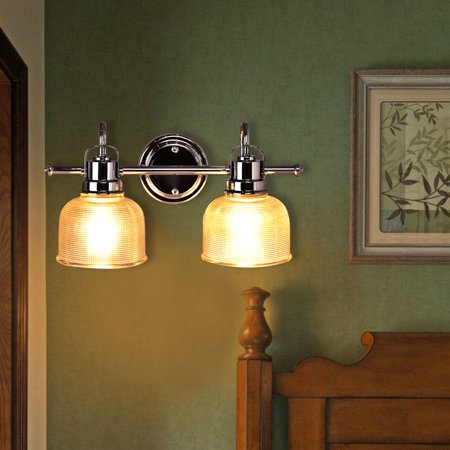 Costway vanity light wall mounted 2 light bathroom vanity - 8 light bathroom fixture brushed nickel ...