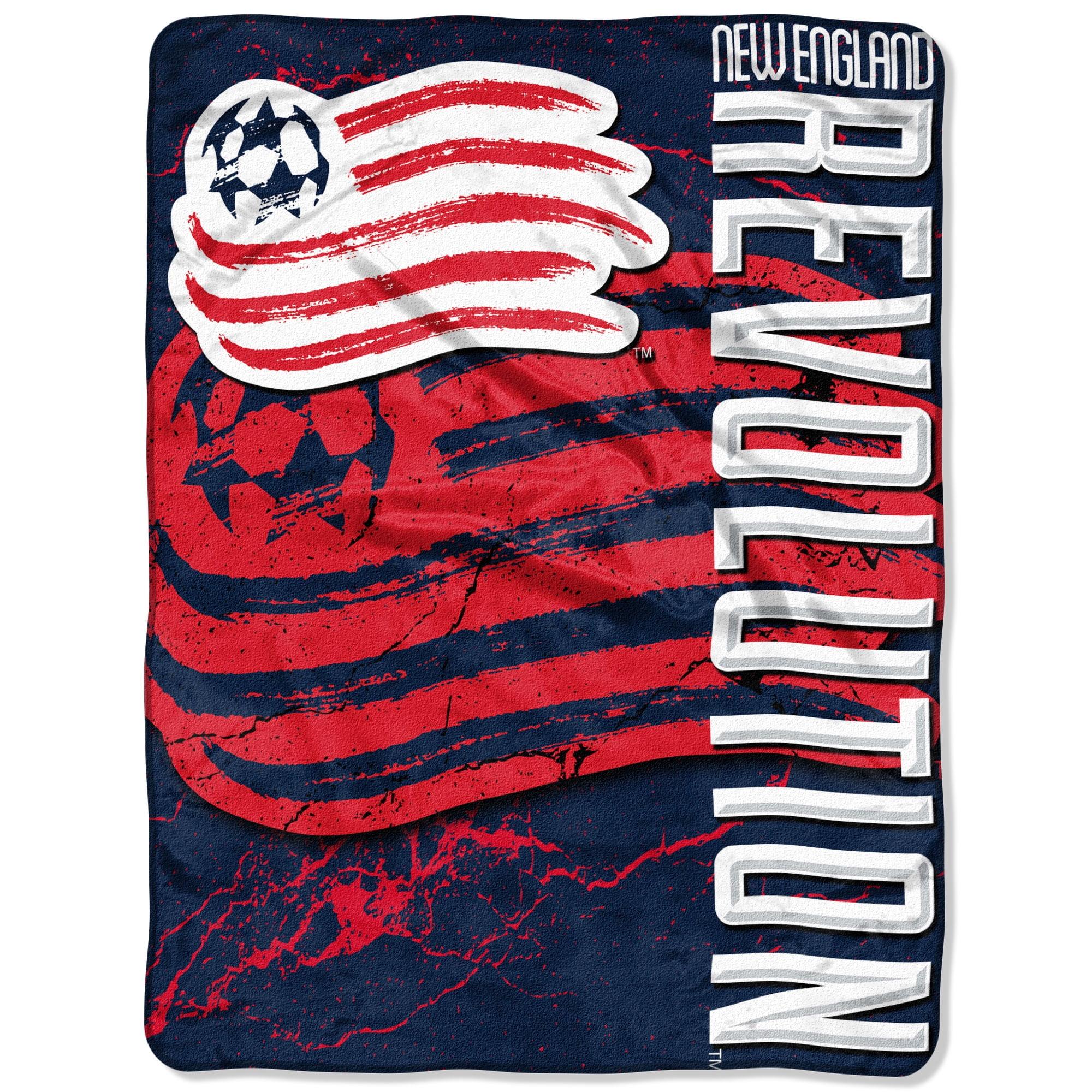 "New England Revolution The Northwest Company 46"" x 60"" Concrete Raschel Throw Blanket - Navy - No Size"