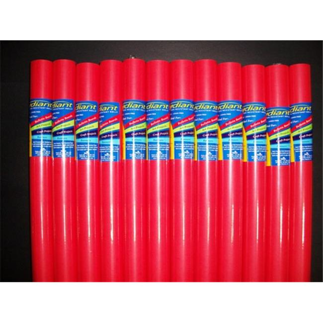 RiteCo Raydiant 80031 Riteco Raydiant Fade Resistant Art Rolls Bright Red 24 In. X 12 Ft. 12 Pack