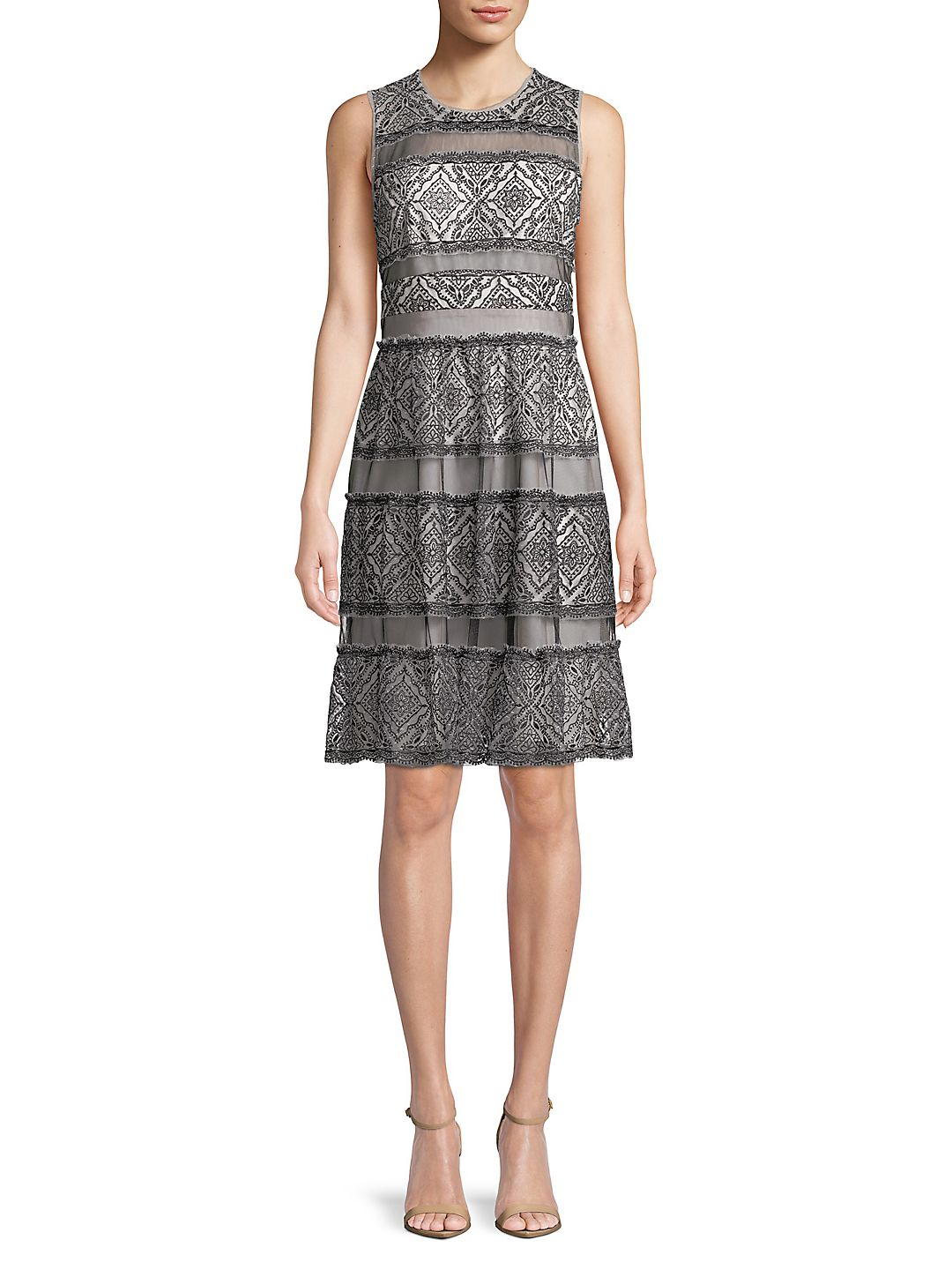 Farrah Embroidered Lace Dress