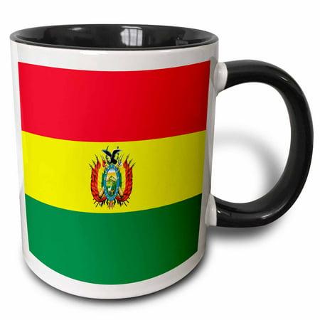 3dRose Bolivia Flag - Two Tone Black Mug, 11-ounce