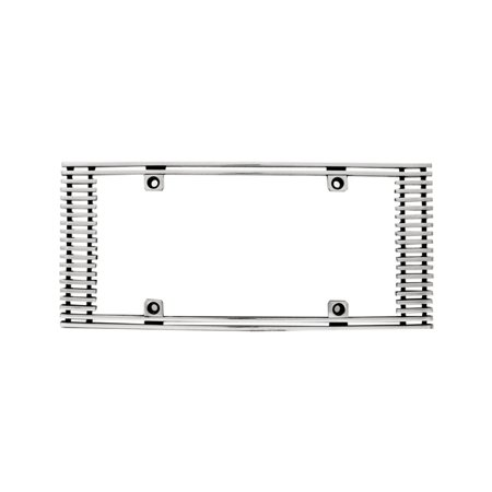 Edge Billet - IPCW CWL-411A 4mm BILLET LICENSE PLATE FRAME STRAIGHT EDGE