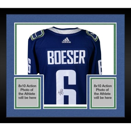 wholesale dealer e37f1 84523 Framed Brock Boeser Vancouver Canucks Autographed Blue Adidas Authentic  Jersey - Fanatics Authentic Certified