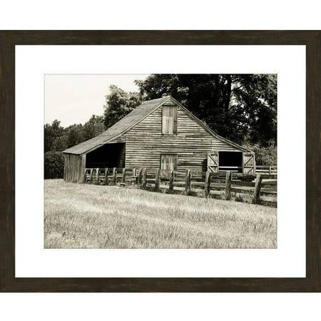 Barn Folk Art (Black And White Barn II 22 X 18 Wall Art)