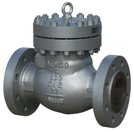 NEWCO 06-33F-CB2 Swing Check Valve, Carbon Steel, 6 In.