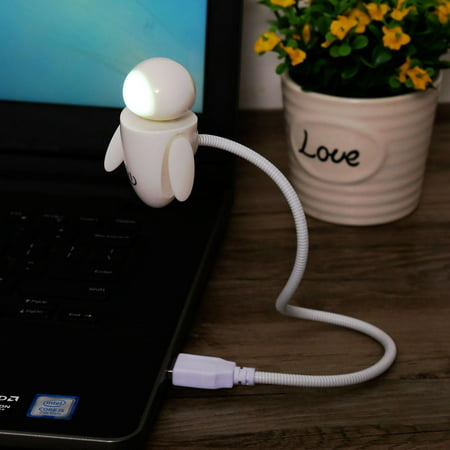 Adorable Doll LED USB Reading Lamp Touch Control Dimmable Computer Desk Lamp with Flexible Gooseneck HFON