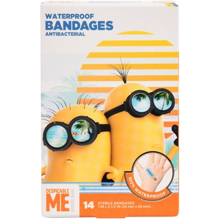 Lot Of 3 Despicable Me2 Antibacterial Bandages 14 (Antibacterial Bandages)