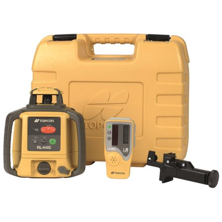 Topcon RL-H4C Self-Leveling Rotary Laser Dry Battery with LS-80L Sensor 57177, Tripod W/ Grade Rod 14ft Inches