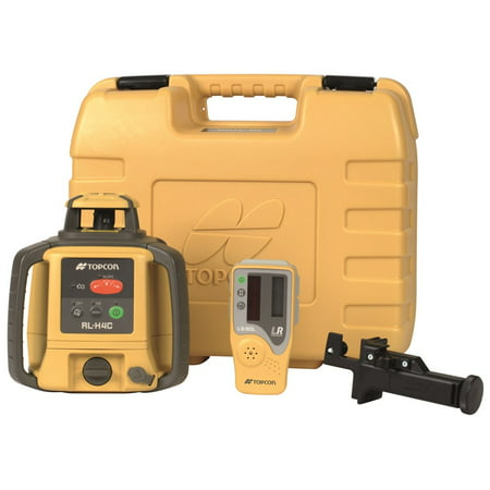 Topcon RL-H4C Self-Leveling Rotary Laser Dry Battery with LS-80L Sensor 57177, Tripod W/ Grade Rod 14ft (Best Laser Level For Grading)