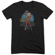Betty Boop Fries With That Mens Tri-Blend Short Sleeve Shirt