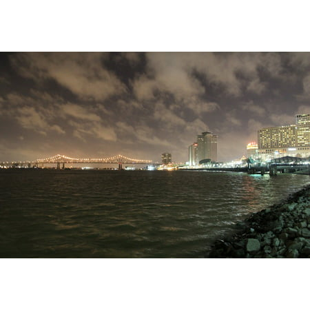 LAMINATED POSTER City Nola Mississippi Night New Orleans Bridge Poster Print 24 x 36 - City Park New Orleans Halloween