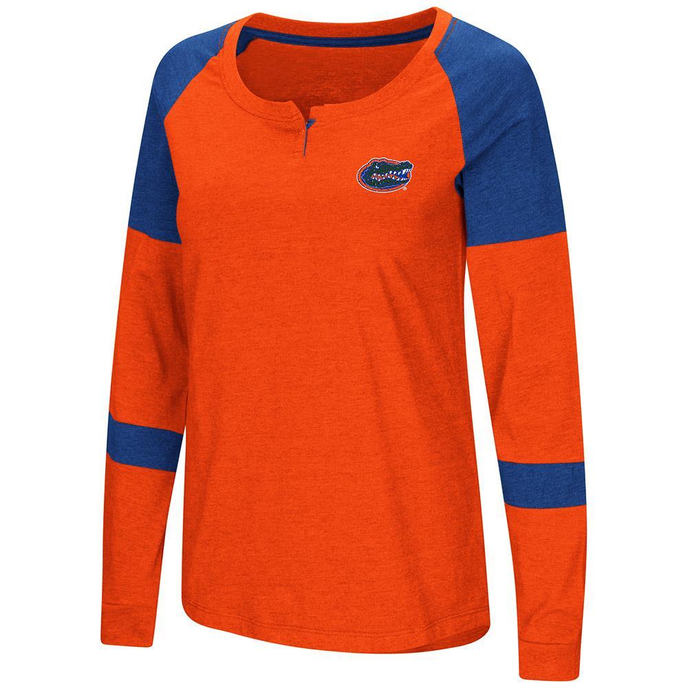 Womens Florida Gators Long Sleeve Raglan Tee Shirt L by Colosseum