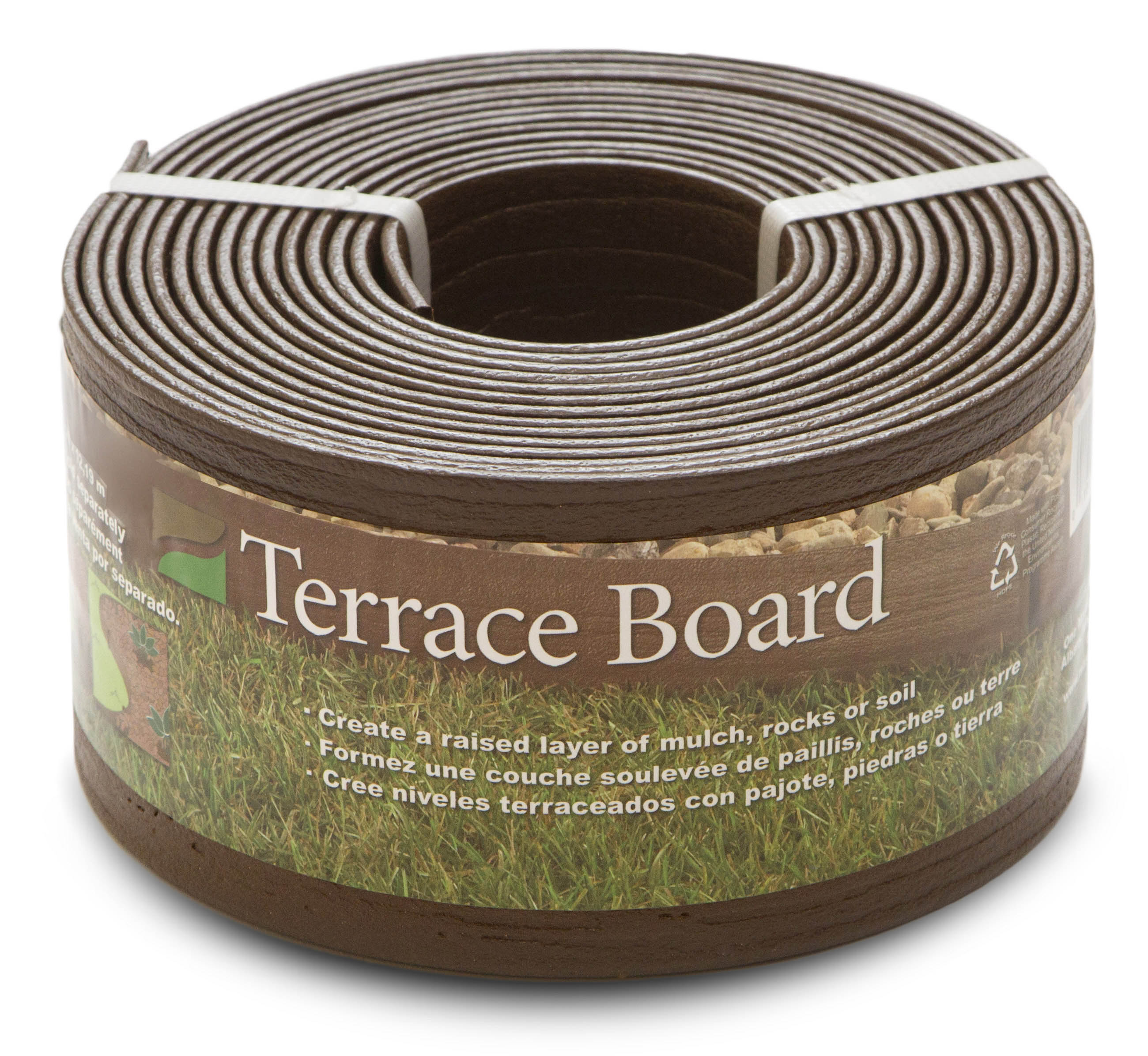 "5"" Brown Terrace Board - 40' includes 10 stakes"