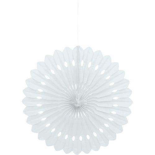 Tissue Paper Fan Decoration, 16 in, White, 1ct