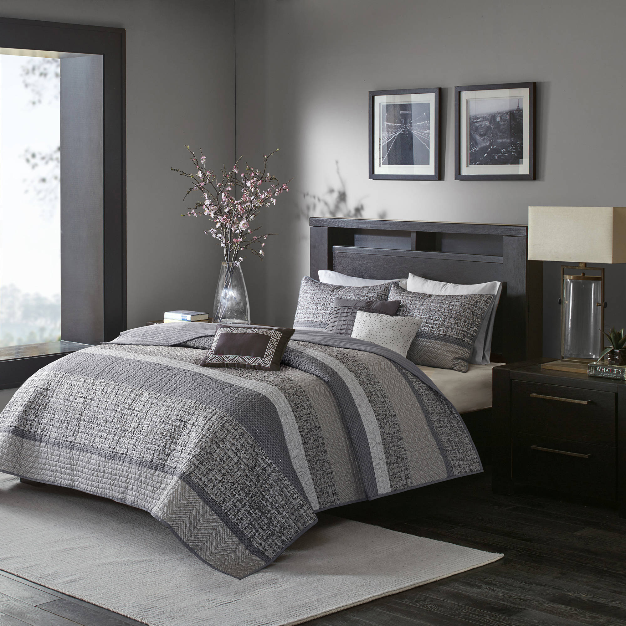 Home Essence Harmony 6PC Woven Jacquard Quilted Coverlet Bedding Set
