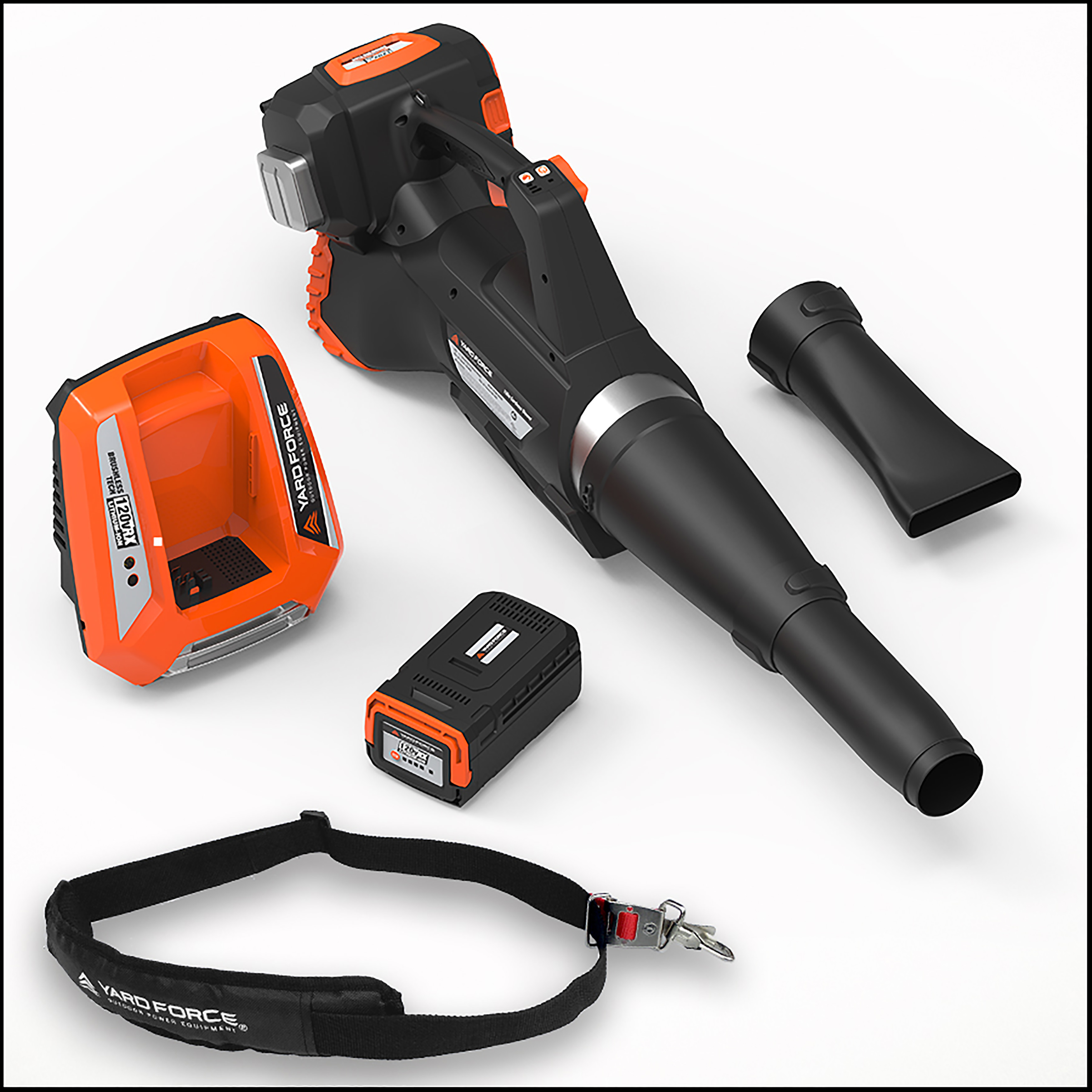 Yard Force 120vRX Lithium-Ion Blower with Push-Button Speed Control - COMPLETE Kit