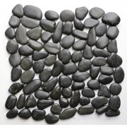 Raven 12 in. x 12 in. Natural Pebble Stone Floor and Wall Tile (10 sq. ft. / case)