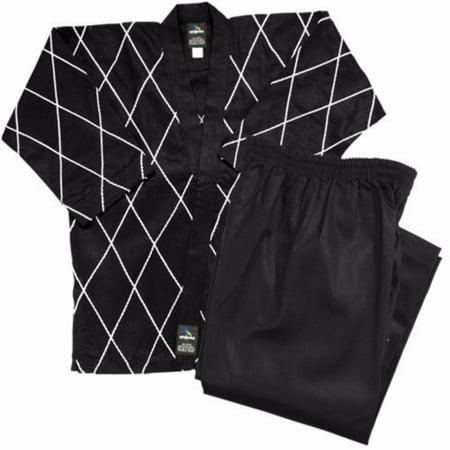 Dynamics 8 oz Hapkido Uniform - Black 10 Ounce Karate Uniform
