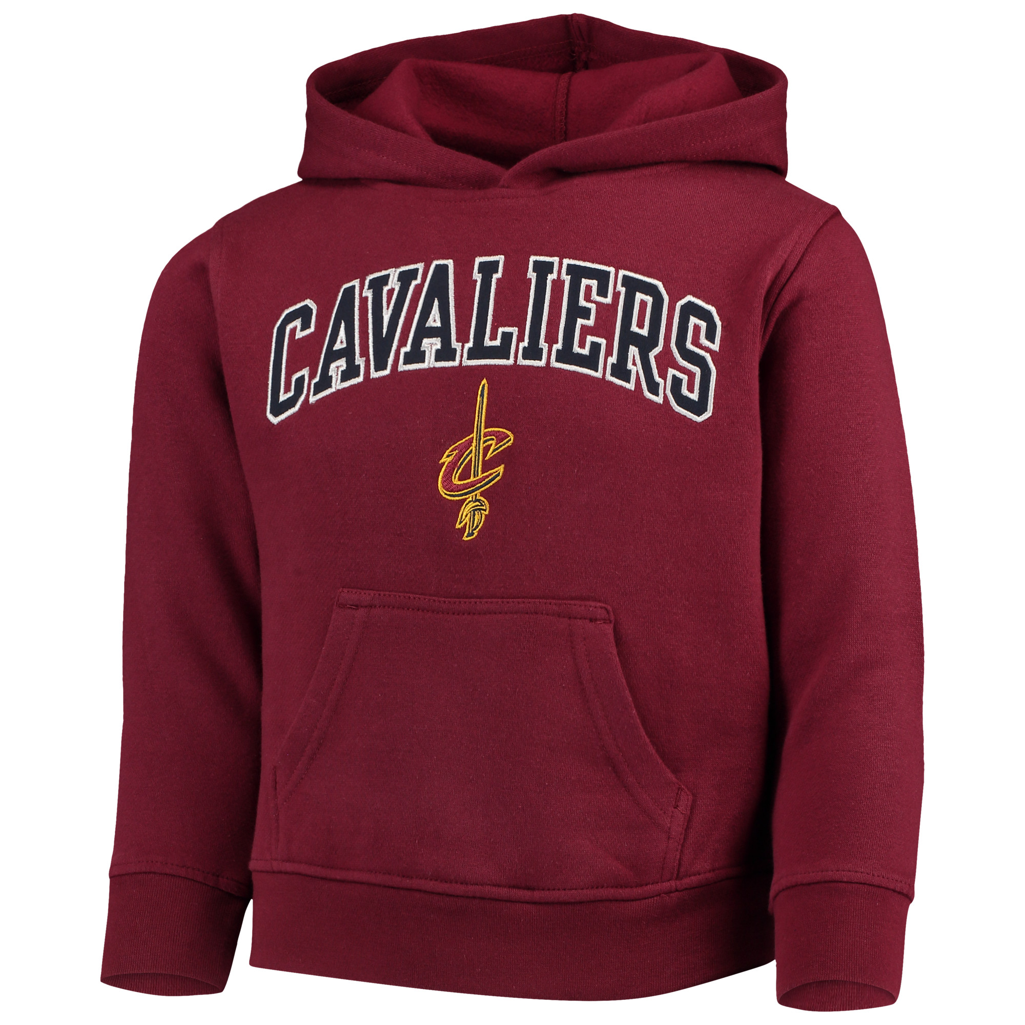 Youth Wine Cleveland Cavaliers Team Fleece Pullover Hoodie
