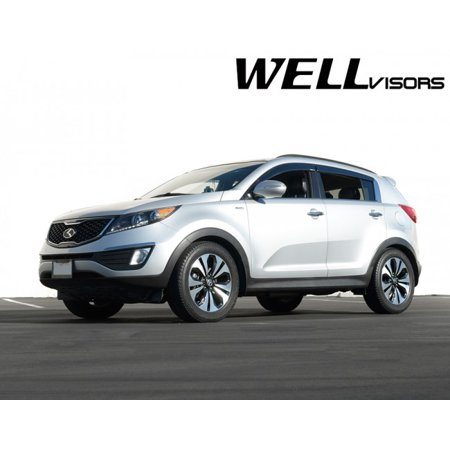 WellVisors Side Rain Guard Window Visors Deflectors With Black Trim For  11-16 Kia Sportage 2011 2012 2013 2014 2015 2016 11 12 13 14 15 16 -  Walmart.com c7f51455e59