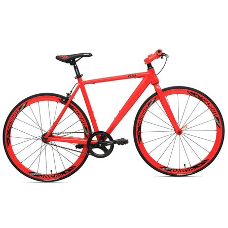 rapidcycle evolve fixed gear bike - aluminum flat bar (700cc, 48cm frame, red color) - Walmart.com