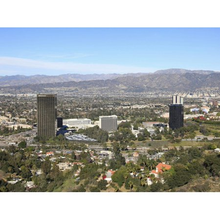 San Fernando Valley, San Gabriel Mountains, Burbank, Los Angeles, California, USA, North America Print Wall Art By Wendy