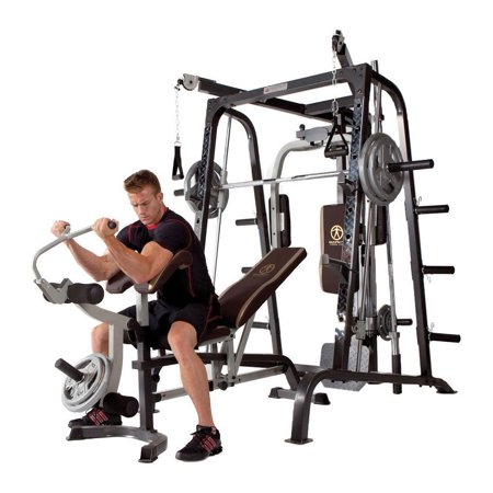 Marcy Deluxe Diamond Elite Smith Cage Home Workout Machine Total Body Gym