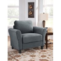 Lifestyle Solutions Alexa Rolled Arm Chair, Upholstered Fabric in Multiple Colors