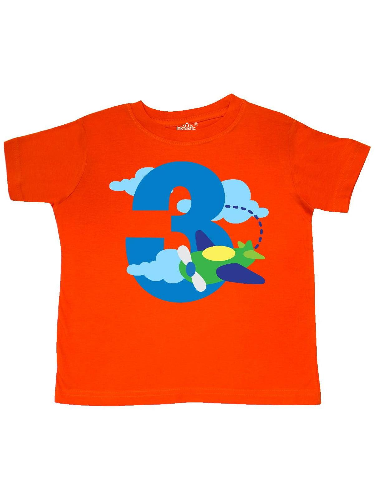 3rd Birthday Airplane Pilot Toddler T-Shirt