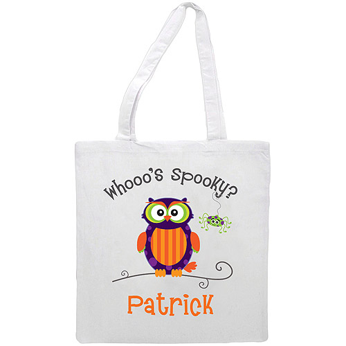 Personalized Whooo's Spooky? Treat Bag