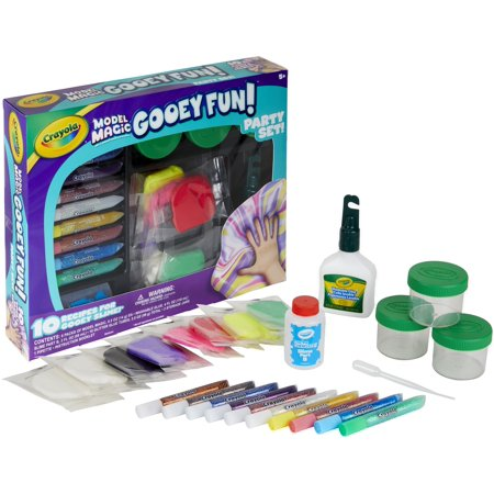 Crayola Model Magic Gooey Fun Party Set for Slime Making, Ages