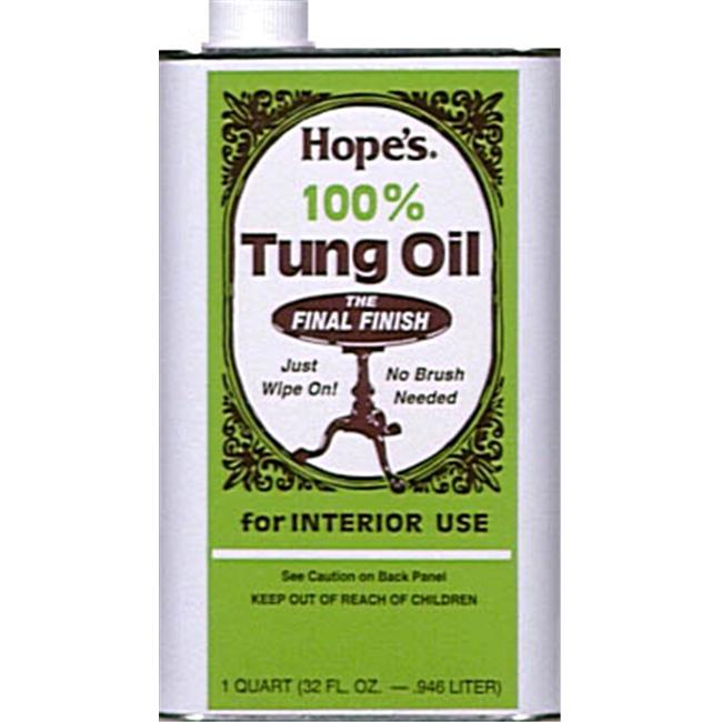 The Hope Company 1 Quart 100 percent Tung Oil  32TO12