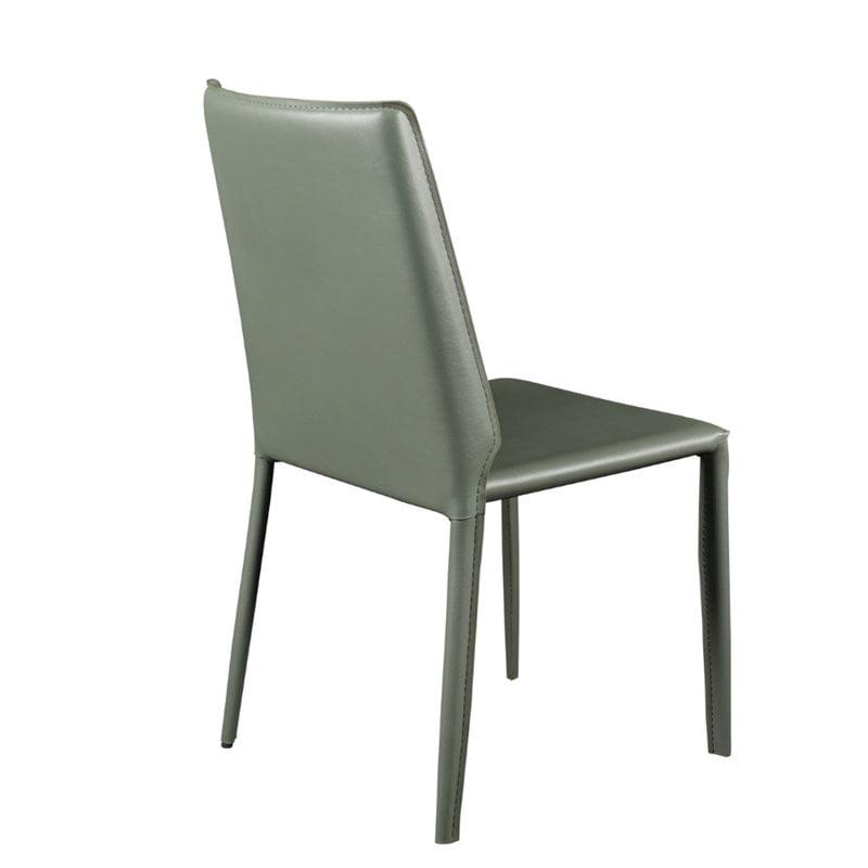 Eurostyle Alder Stacking Side Chair in Green (Set of 4) - image 5 de 6
