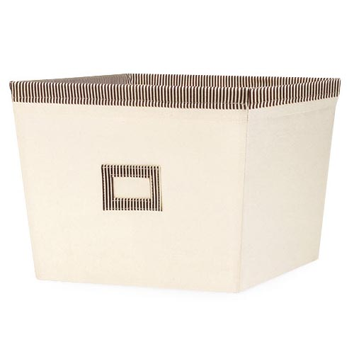 Whitmor Canvas Storage Tote, Cappuccino