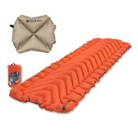 Klymit Insulated Static V Orange Sleeping Mat Travel Pad w/ Pillow X Recon Sand