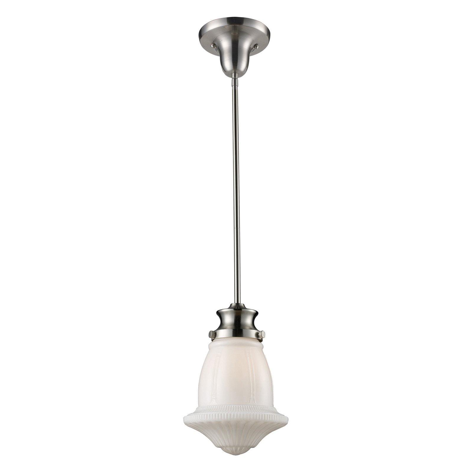ELK Lighting 69029-1 Schoolhouse Pendant 8W in. Silver by Elk Lighting
