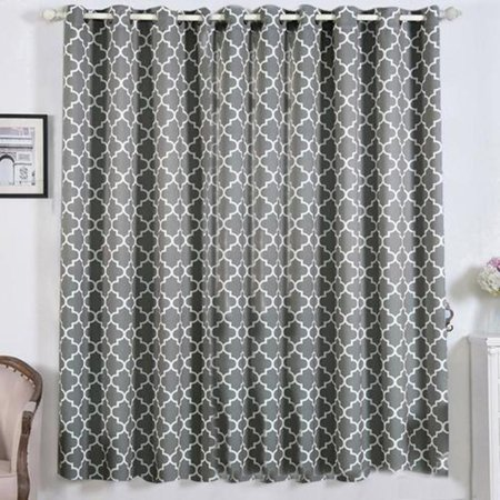 Efavormart 2 Panels Lattice Print Window Blackout Drapery Thermal Insulated 52x84inch Curtain Panel Drapes Window Treatment