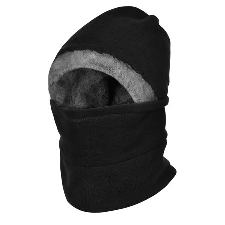 Vbiger Winter Neck Warmer Hat Warmer Face Cover Windproof Balaclavas for Men and Women, Black ()