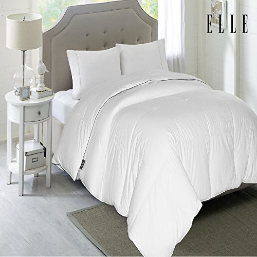 ELLE 1200 Thread Count Cotton Rich Down Comforter 600 Fill Power