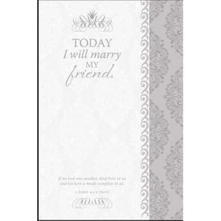 Bulletin-Today I Will Marry My Friend/Scroll Design (Wedding) (Pack Of 100)](Wedding Bulletins)