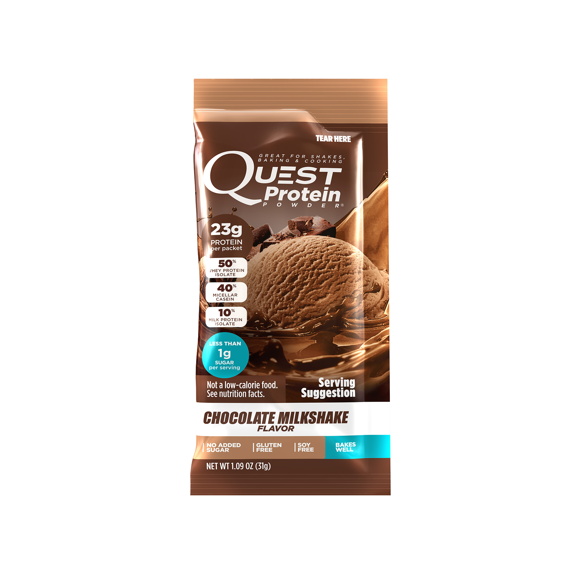 Quest Protein Packet - Chocolate Milkshake 12Ct