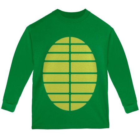 Halloween turtle costume green youth long sleeve t shirt for Green turtle t shirts review
