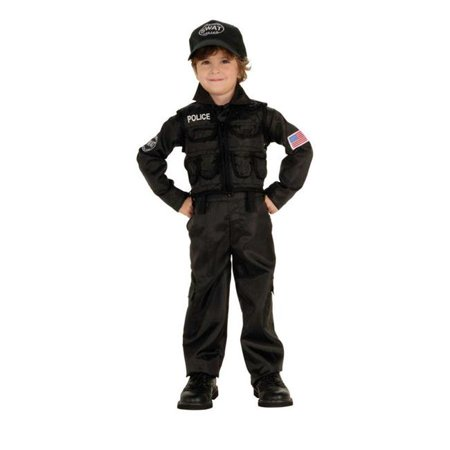 Costumes For All Occasions Ru882813Sm Policeman Swat Child Small - Kids Swat Costumes